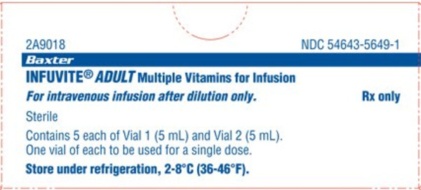 INFUVITE ADULT MULTI VIT VL 5X2X5ML